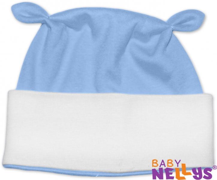 Čiapočka Baby Nellys ušká - sv. modrá