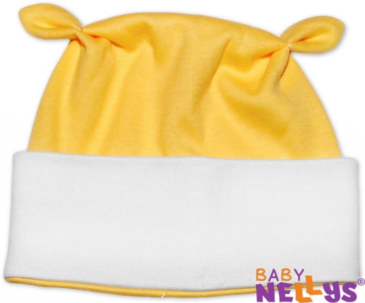 Čiapočka Baby Nellys uškami - žltá