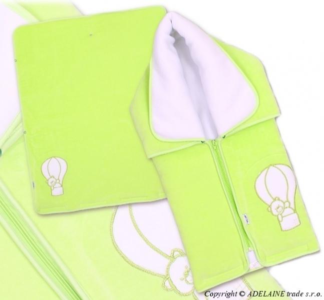 TERJAN Multifunkčný deka 3v1 Medvedík - zelená