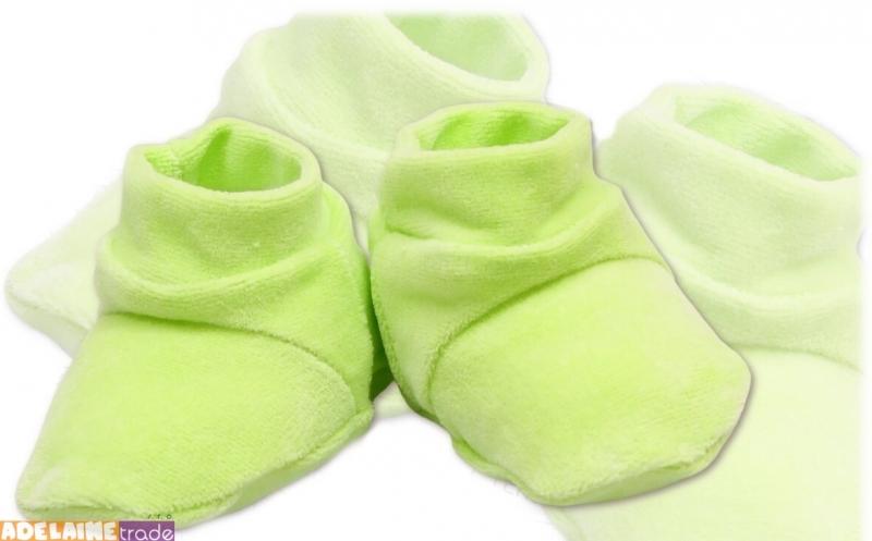 TERJAN Topánočky / ponožtičky VELUR - zelené