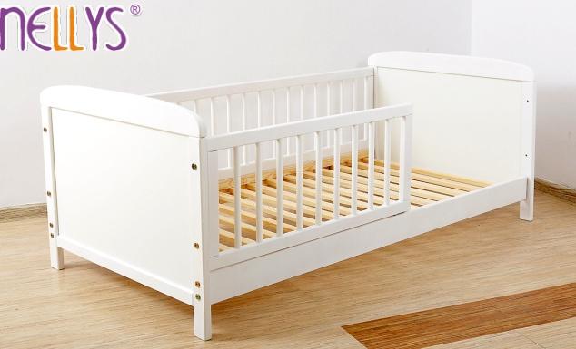 Detská juniorská posteľ / postieľka Nellys - biela-140x70