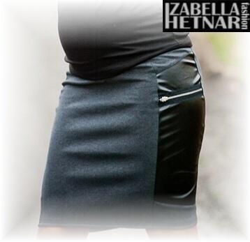 Tehotenská sukňa REA - grafit