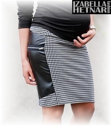 Tehotenská sukňa REA - pepitka