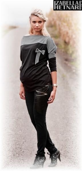 Tehotenské nohavice ZOE - čierne-L (40)