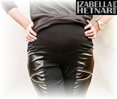 Be MaaMaa Tehotenské nohavice ZOE - čierne