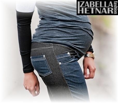 Be MaaMaa Tehotenské nohavice / jeans KORINA