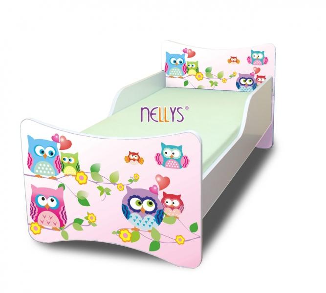 Detská posteľ sovička, 140x70