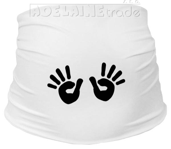 Tehotenský pás s ručičkami - biely