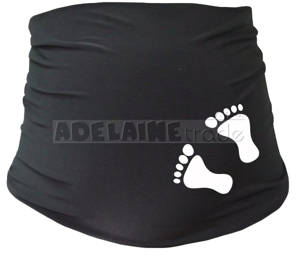 Tehotenský pás s nožičkami - čierny