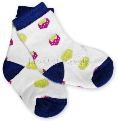 Bavlnené froté ponožky 6-12m - jahôdky