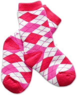 Bavlnené froté ponožky 12m + - KARKO ružové