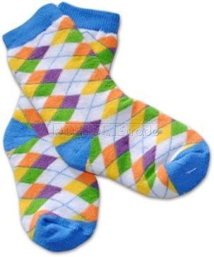 Bavlnené froté ponožky 12m + - KARKO farebné