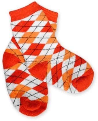 BabyOno Bavlnené protišmykové froté ponožky 12m +, KARKO červené / oranž