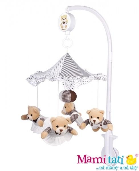 Kolotoč nad postieľku Canpol Babies - Medvedíci pod dáždnikom