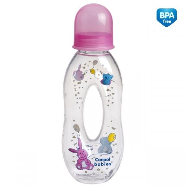 Fľaštička 250ml Canpol Babies - dievčenské farby