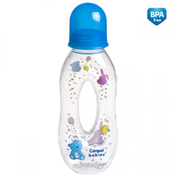 Fľaštička 250ml Canpol Babies - chlapčenské farby