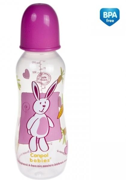 Fľaštička 330ml Canpol Babies - dievčenské farby