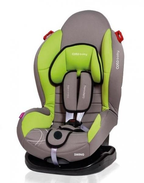 Autosedačka Coto Baby Swing 9-25kg, 2020 - šedá, zelená
