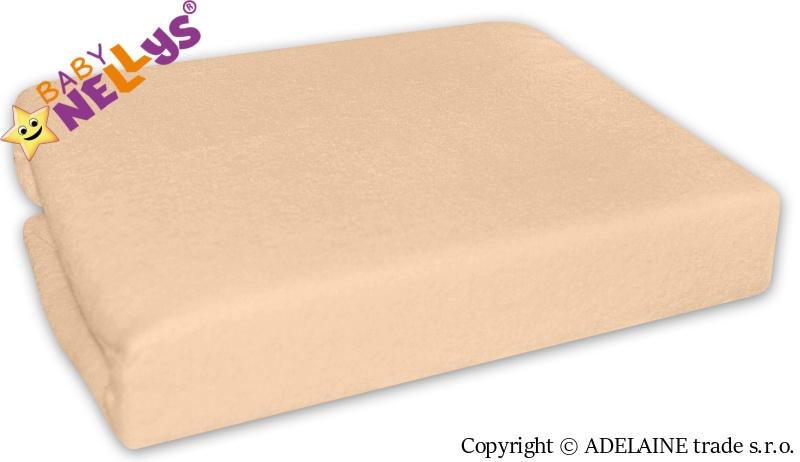 Nepremokavé prestieradlo Baby Nellys ® - Marhuľa, losos-120x60