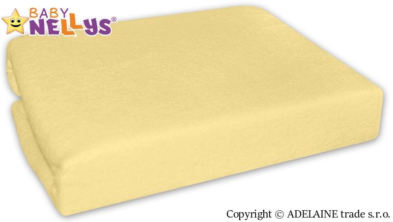 Nepremokavé prestieradlo Baby Nellys ® - Krémovo žlté-120x60