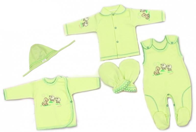 Súpravička do pôrodnice v krabičke Terjan - Psík zelený