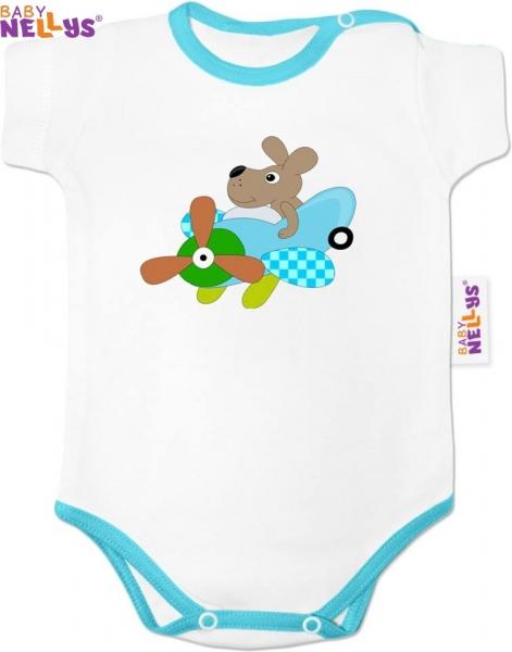 Body Kr. rukáv Baby Nellys ® lietadielka - PILOT