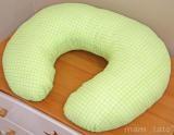Dojčiaci vankúš - Kostička zelená