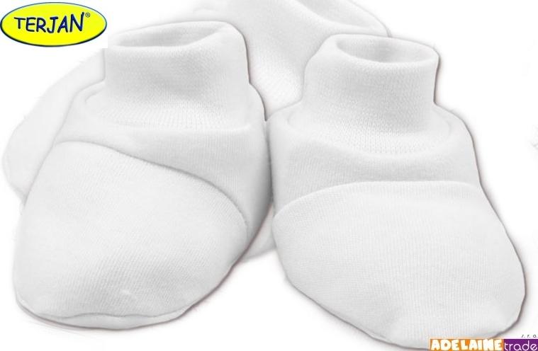 TERJAN Topánočky / ponožtičky BAVLNA - biele