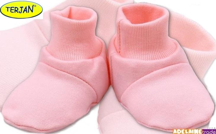 TERJAN Topánočky / ponožtičky BAVLNA - sv. ružové