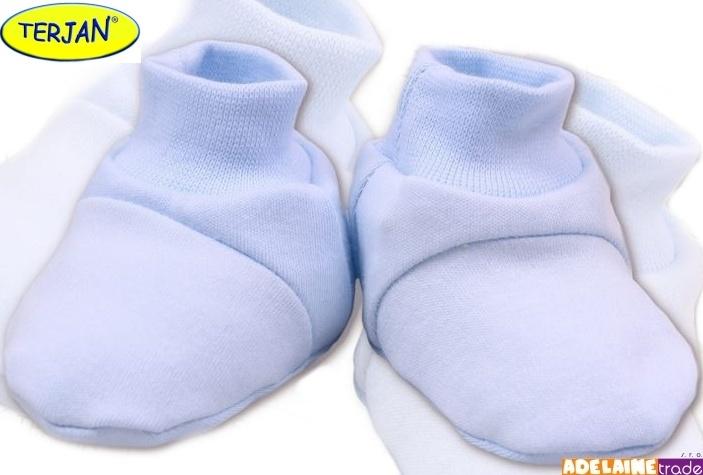 TERJAN Topánočky / ponožtičky BAVLNA - sv. modré