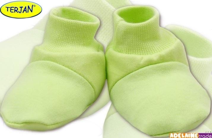 Topánočky / ponožtičky BAVLNA - sv. zelené / pistacie