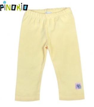 Legínky / tepláčky Pinokio - žltá / krémová
