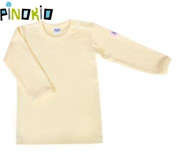 Tričko dl.rukáv Pinokio - žltá / krémová