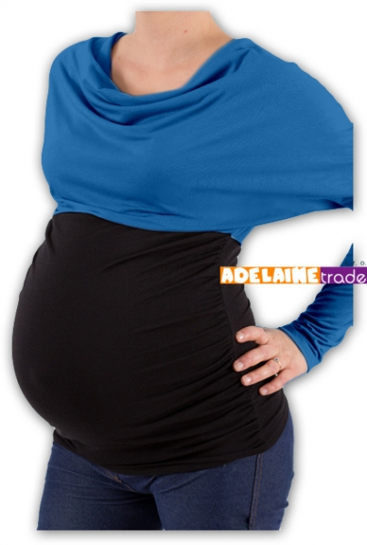 Tehotenská tunika VODA DUO - tm.modrý-čierny