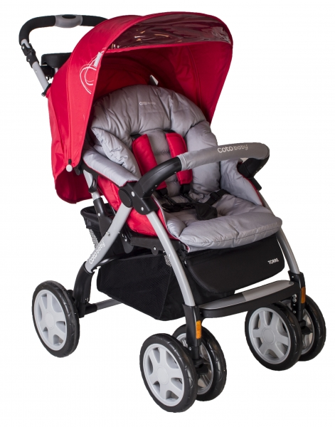 Športový kočík Torre 2020 Coto Baby - červená / šedá