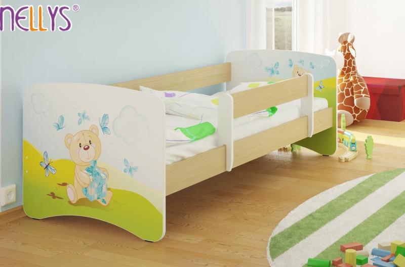 Detská posteľ Nellys ® - Míša darček / sv.hnedá