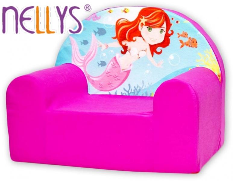 Detské kresielko / pohovečka Nellys ® - Malá morská víla