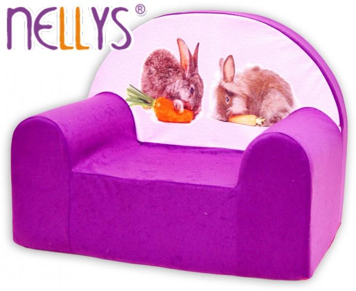 Detské kresielko / pohovečka Nellys ® - Zajačikovia