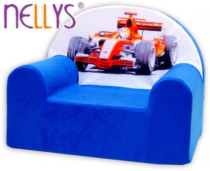 Detské kresielko / pohovecka Nellys ® - Formula v modrom