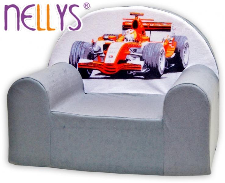 Detské kresielko / pohovečka Nellys ® - Formula v šedej