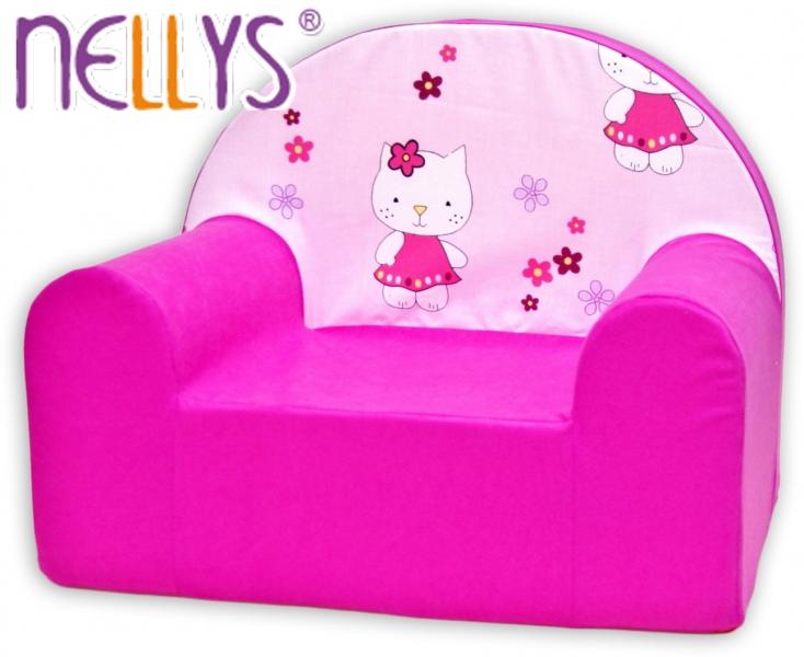 Detské kresielko / pohovečka Nellys ® - Kitty mačička