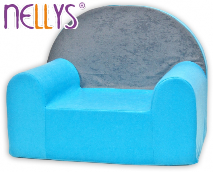 Detské kresielko Nellys ® - Šedá s modrou