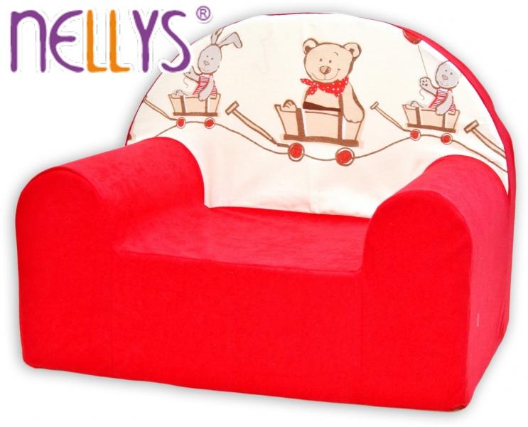 Detské kresielko / pohovečka Nellys ® - Míša a zajačik