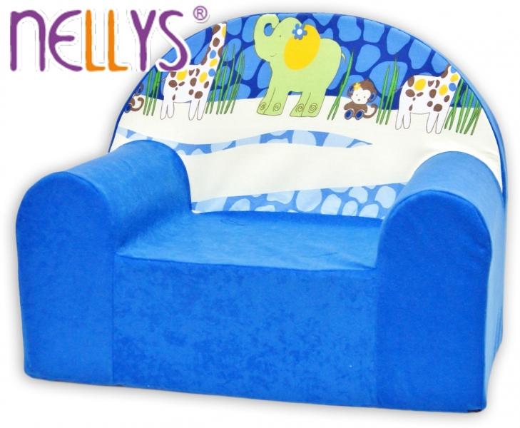 Detské kresielko / pohovečka Nellys ® - Safari v modrej