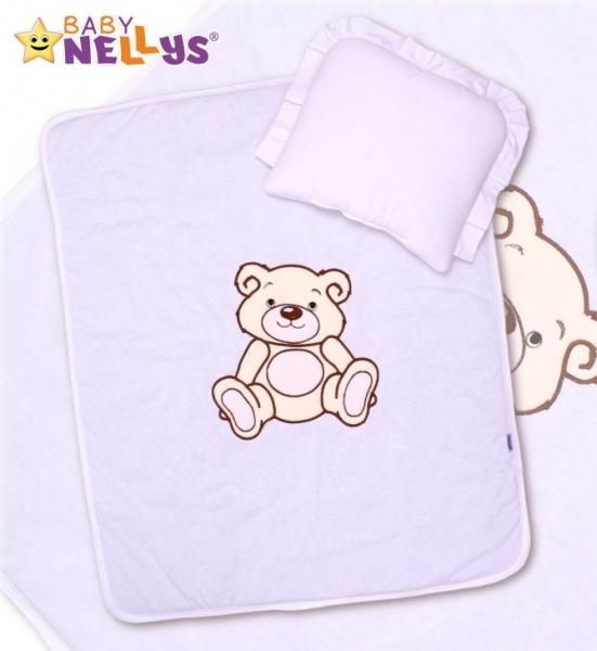Sada do kočíka jersey Medvedík Teddy Baby Nellys - biela