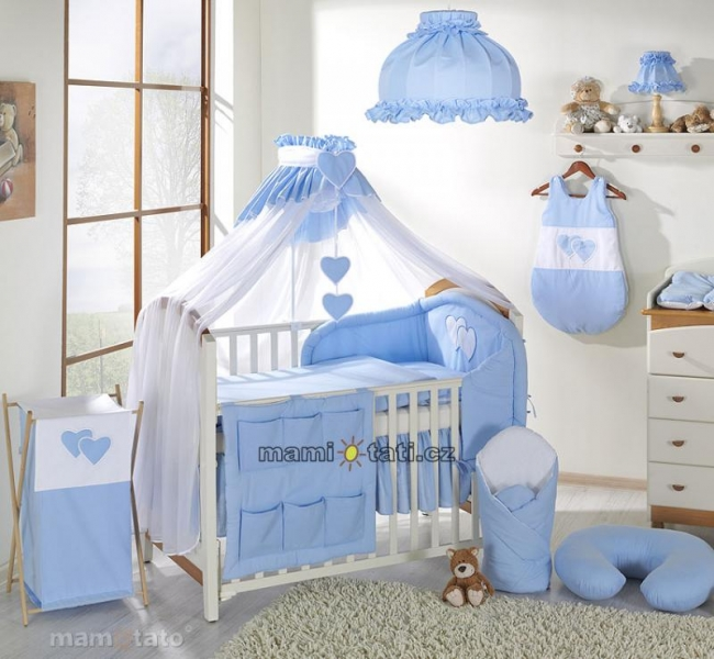 Luxusný mega set s mosktiérou - Srdiečko modré