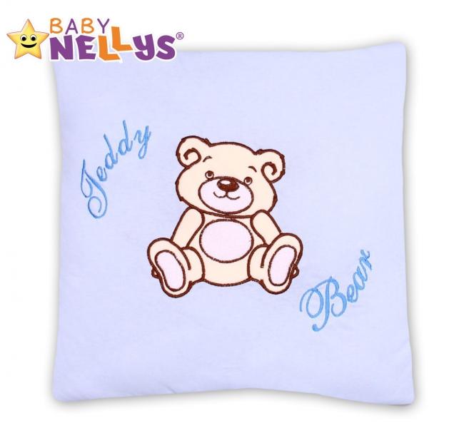Baby Nellys Vankúšik 40x40 Teddy Bear - sv. modrý