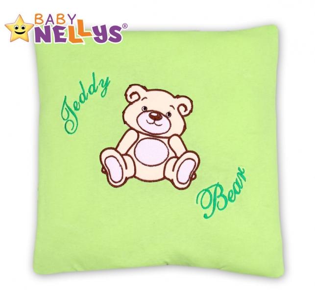 Vankúšik 40x40 Teddy Bear - sv. zelený