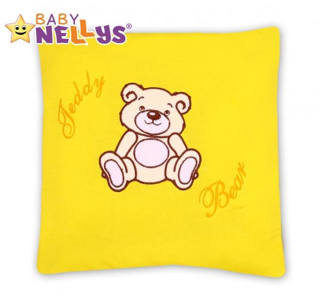 Baby Nellys Vankúšik 40x40 Teddy Bear - žltý