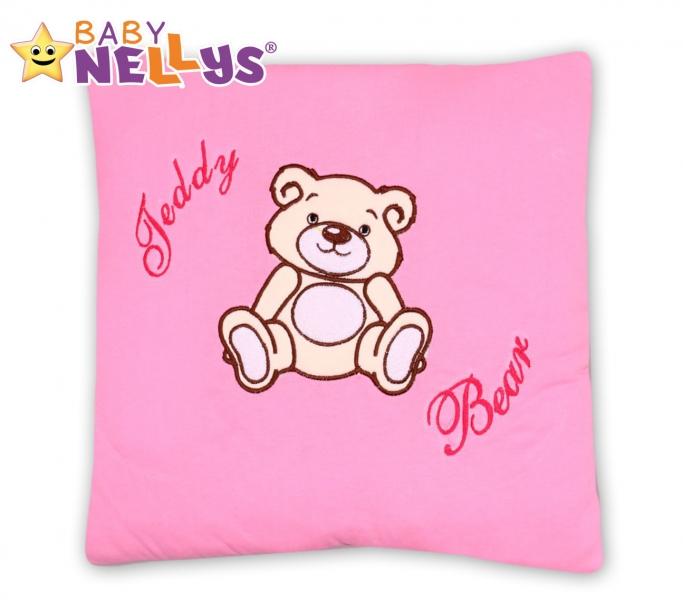 Vankúšik 40x40 Teddy Bear - sv. ružový